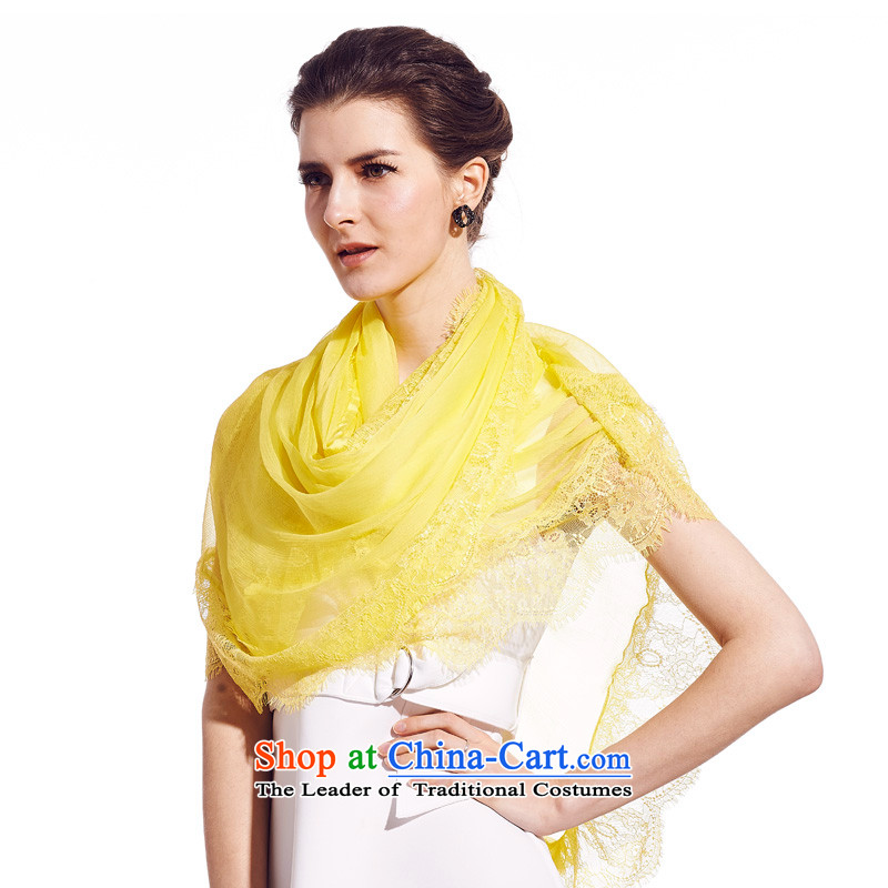 Sigi's large population of President Dos Santos pure color silk scarves silk scarfs shawls and sunny yellow