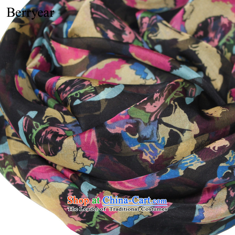 The spring and autumn scarf western style berryear silk scarfs President Dos Santos Long silk scarves Yu beauty abounds 200*65CM standard