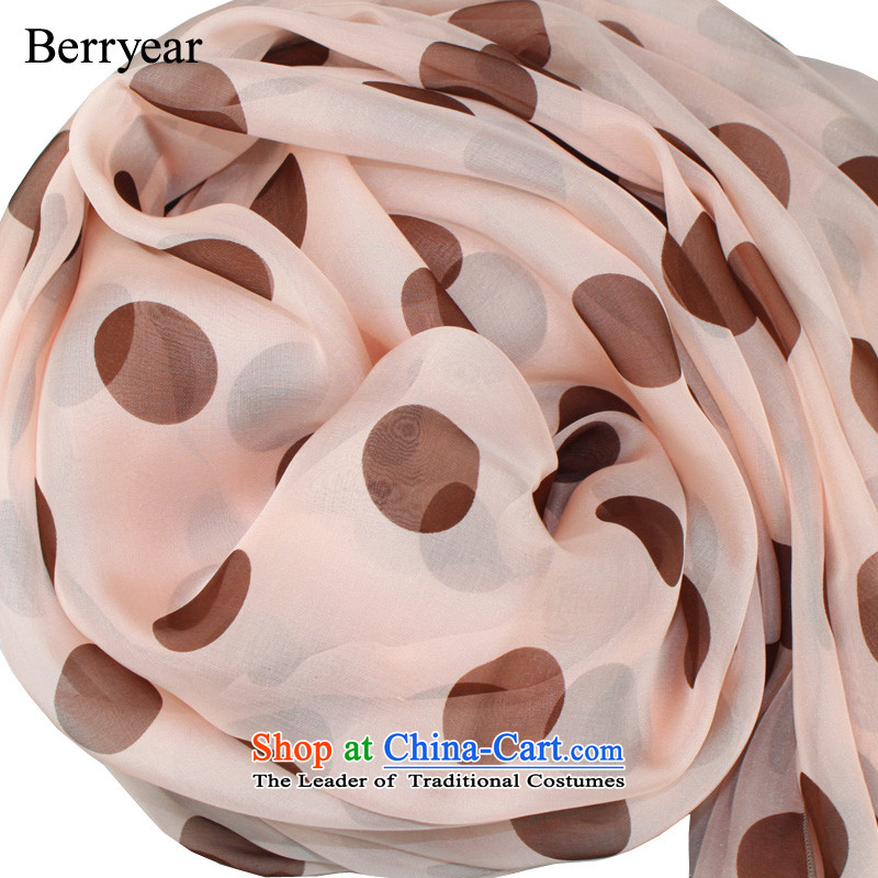 The usual zongzi berryear elegance toner upscale silk scarfs women during the spring and autumn of major waves of point herbs extract silk scarf250*130CM