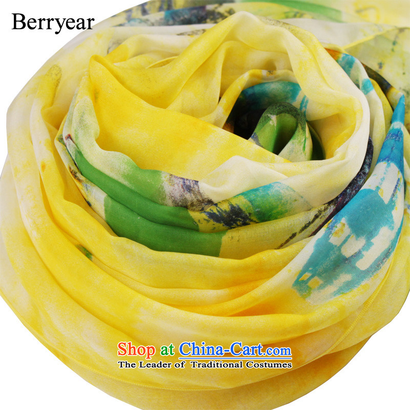 Upscale berryear herbs extract scarf girl in spring and autumn wild Korean citizenry long silk scarves sunscreen200*130CM shawl