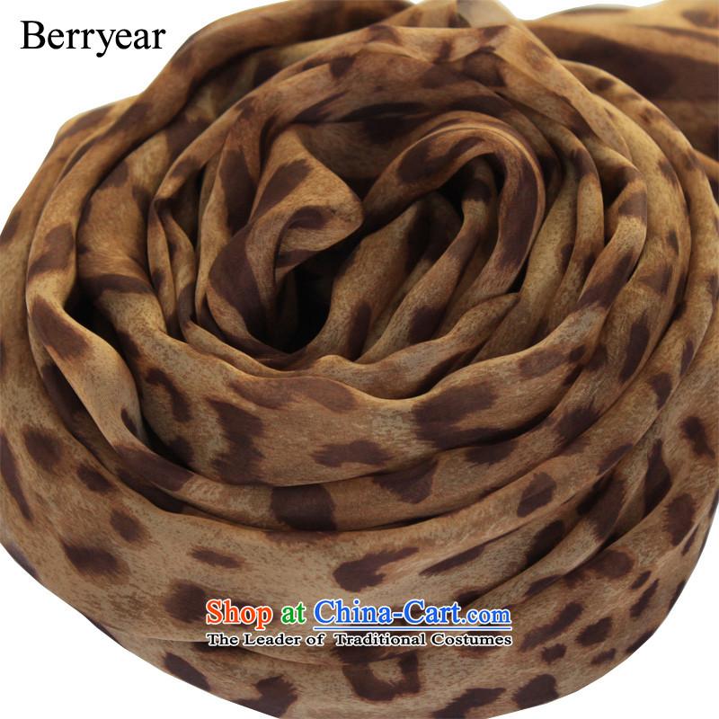 Western style berryear leopard scarf female autumn and winter wild herbs extract silk scarf long leopard silk scarves聽200_130CM