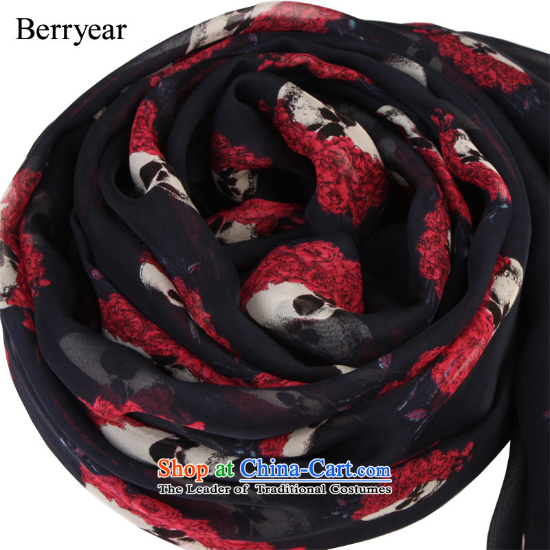 The end of the scarf female autumn and winter berryear wild roses large skull silk scarves, herbs extract scarf200*130CM