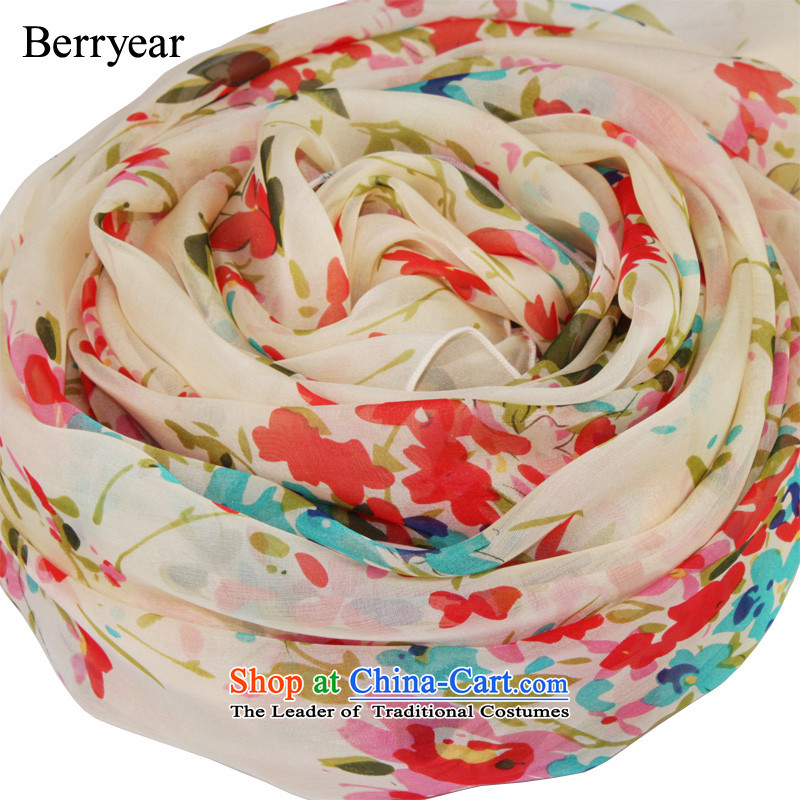 The spring and autumn Korean Rural berryear saika Ms. long silk scarf herbs extract upscale silk scarves shawl 200*65CM standard