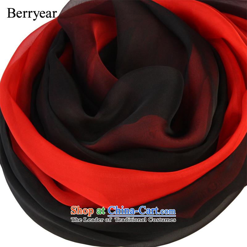 In spring and autumn berryear wild gradient silk scarf upscale hand-painted silk scarfs long sauna silk shawls聽200_130CM silk scarf