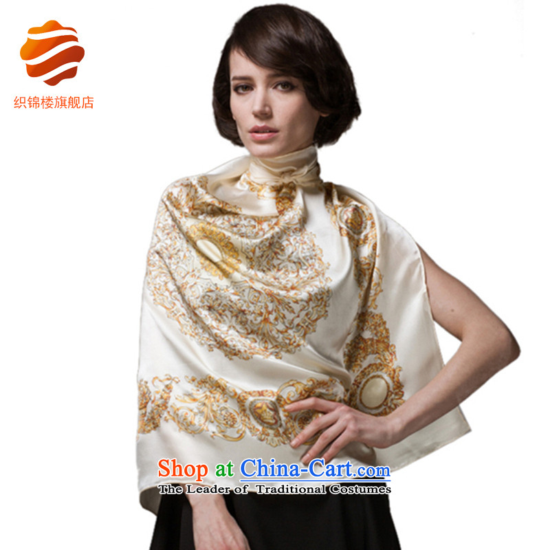 Tapestries floor silk scarf silk scarf and classy women in the spring and fall with herbs extract scarves Royal White Swan