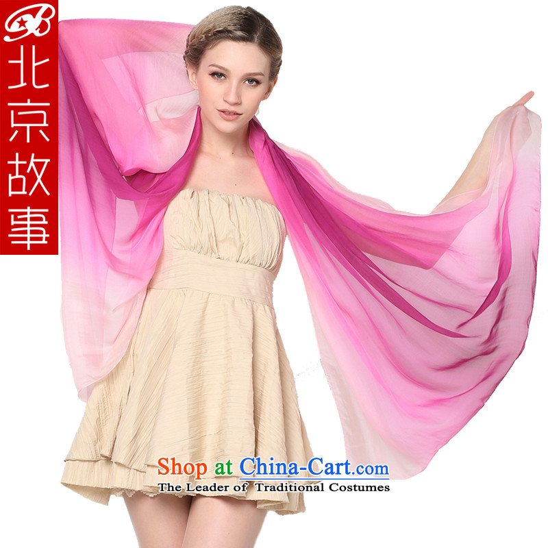 Beijing story gradient herbs extract silk scarf silk scarf shawl by Ms. air-conditioning Purple