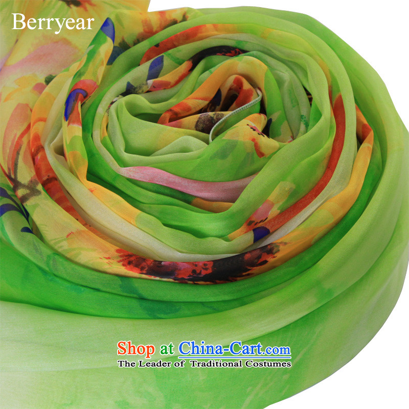 Upscale berryear silk scarfs spring and autumn female wild long stamp herbs extract silk scarf silk shawls 200*130CM sunscreen