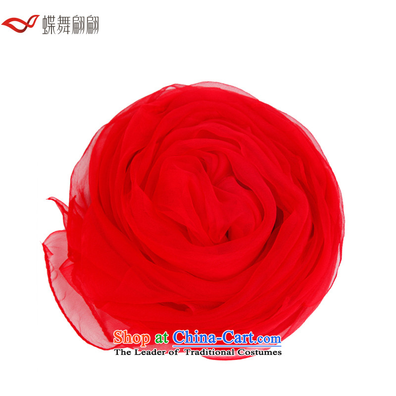 The Butterfly Dance medley of silk spinning mixed towel female autumn pure color red Fancy Scarf