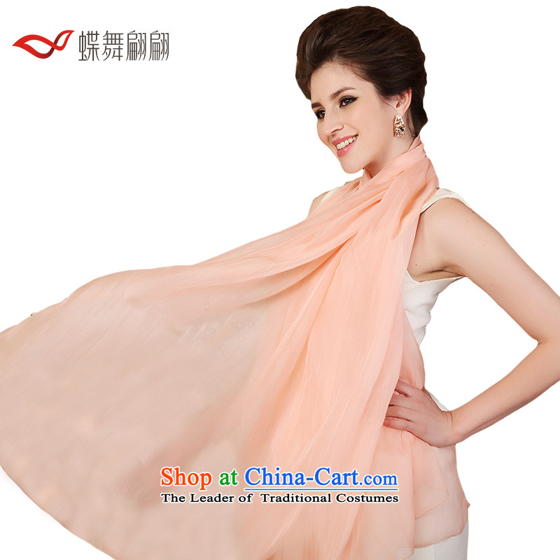 The Butterfly Dance medley of silk scarves, herbs extract scarf of autumn and winter pure color wild shawl nude