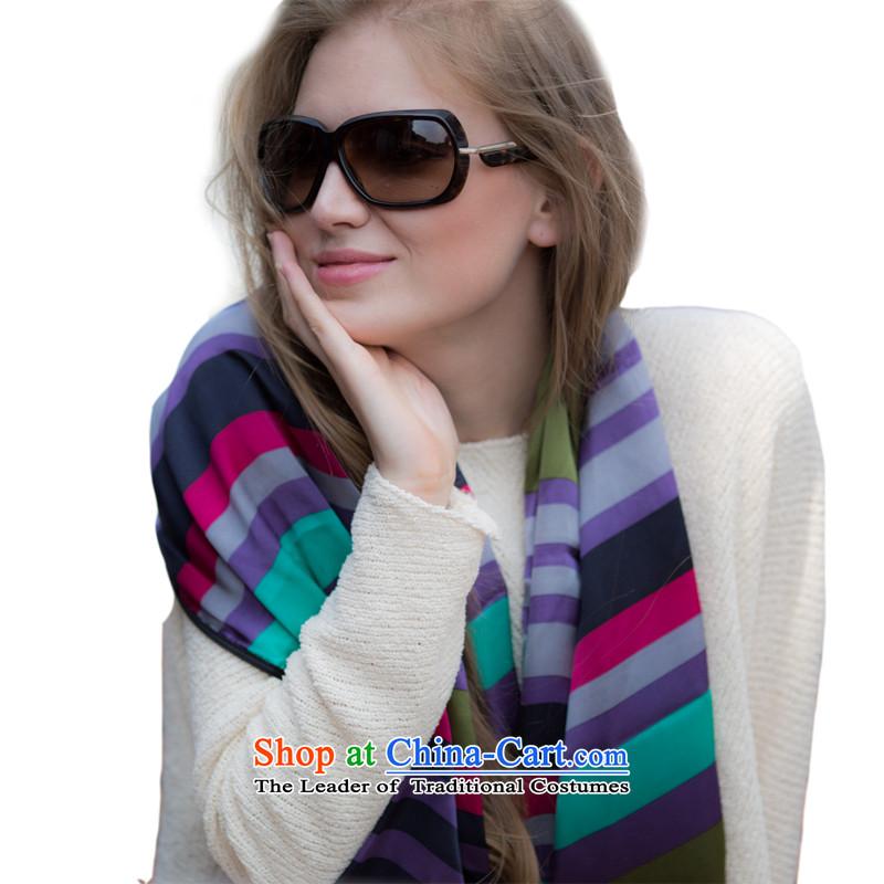 Avila dream DA Ms. herbs extract scarf silk scarves shawl long summer lazy days the new black border -C2 streaks