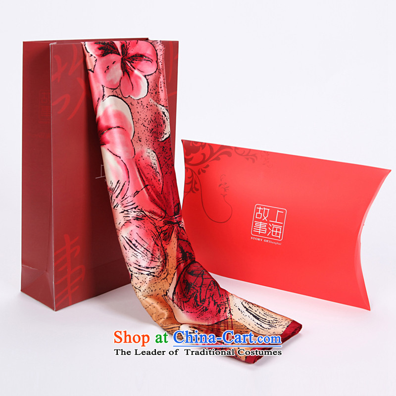 Shanghai Story Kapok poster and classy towel spring new president silk herbs extract silk scarf Gift Pack2#
