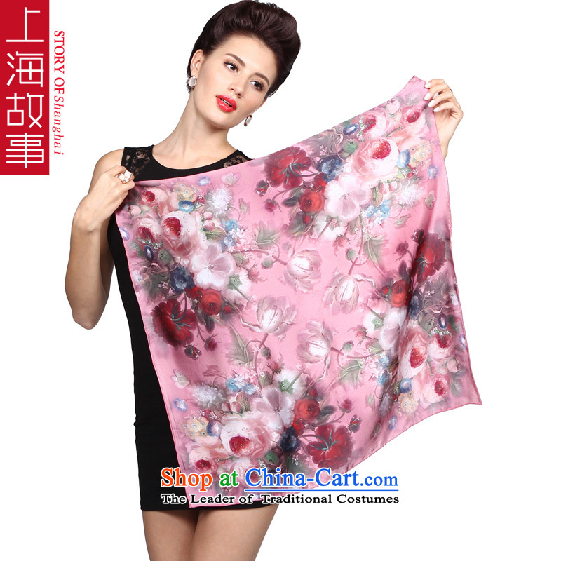 Shanghai Story silk scarves herbs extract scarf of Ms. upscale small towel career damask shawl hibiscus pollen