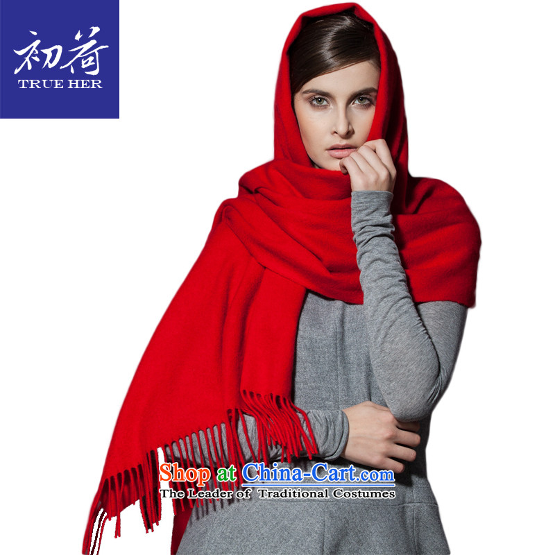 I should be grateful if you would have pure Cashmere scarf early women cape autumn and winter thick a solid color long long shawl two the Platinum Chinese Red Velvet Series