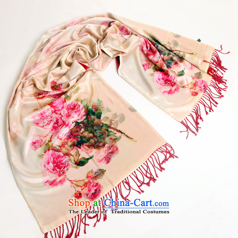 Shanghai Story silk scarfs and contemptuous of Ms. Aura silk shawls brushed autumn and winter digital inkjet thick herbs extract long silk scarf16#