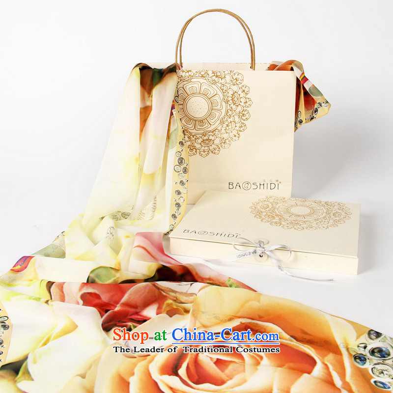 Gems butterfly silk long towel China wind discoverya custom) Ms. herbs extract/Rose of silk scarf precepts classic color