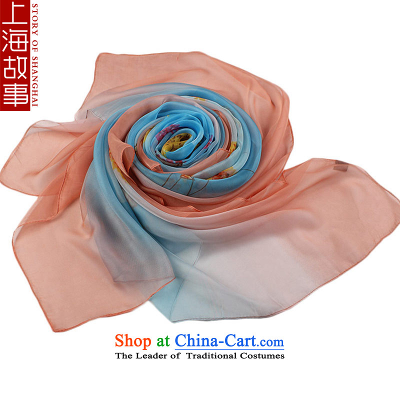 Shanghai Story silk scarf, wild long scarf autumn and winter warm towel Flying Snow spinning Gray