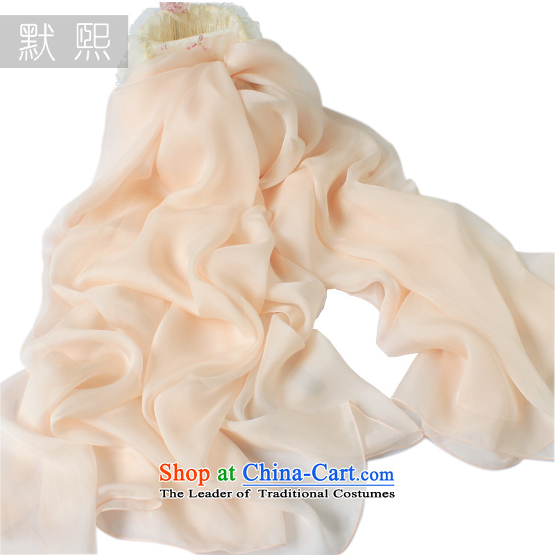 The default high-end-hee pure color herbs extract silk scarf new spring and autumn silk scarfs shawls two with bare pink silk scarves250x130cm
