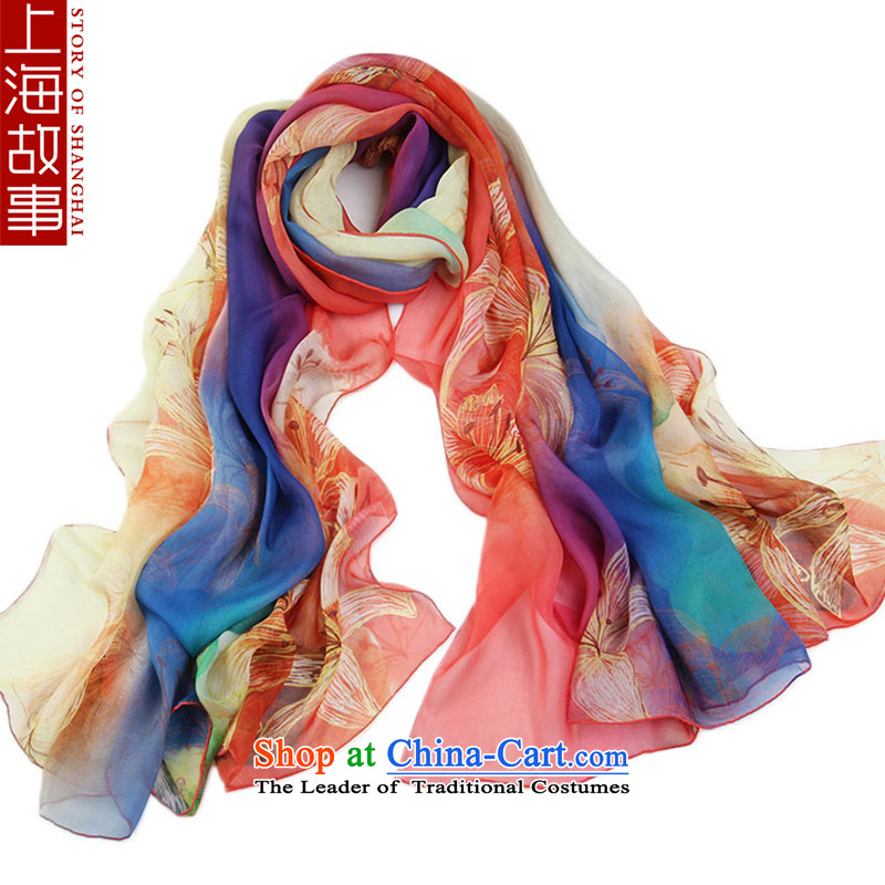 Shanghai Story silk scarves President Dos Santos silk scarves sunscreen shawl masks in air-conditioning also visit