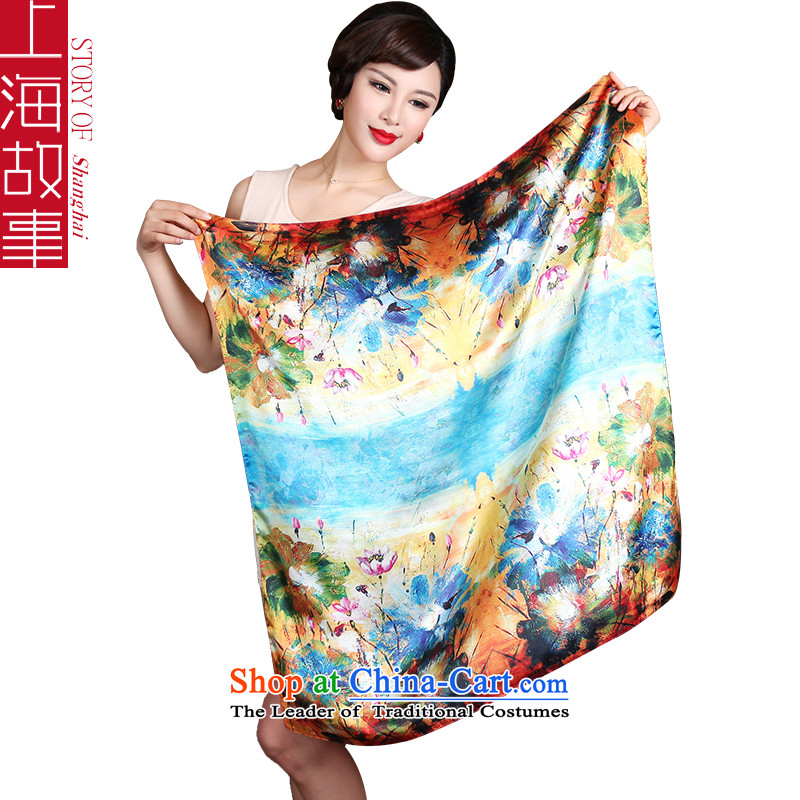 Shanghai Story silk scarf Ms. herbs extract silk and classy towel spring and summer gift 90DP 3-11A, ASIA