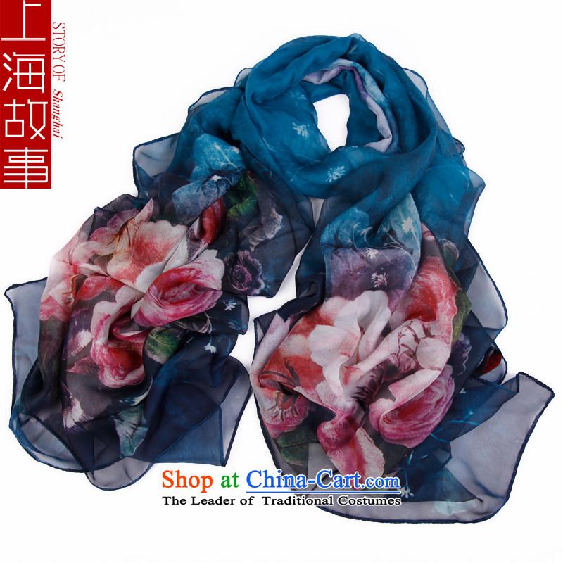 Shanghai Story emulation silk chiffon stamp silk scarf Korean Scarf8#
