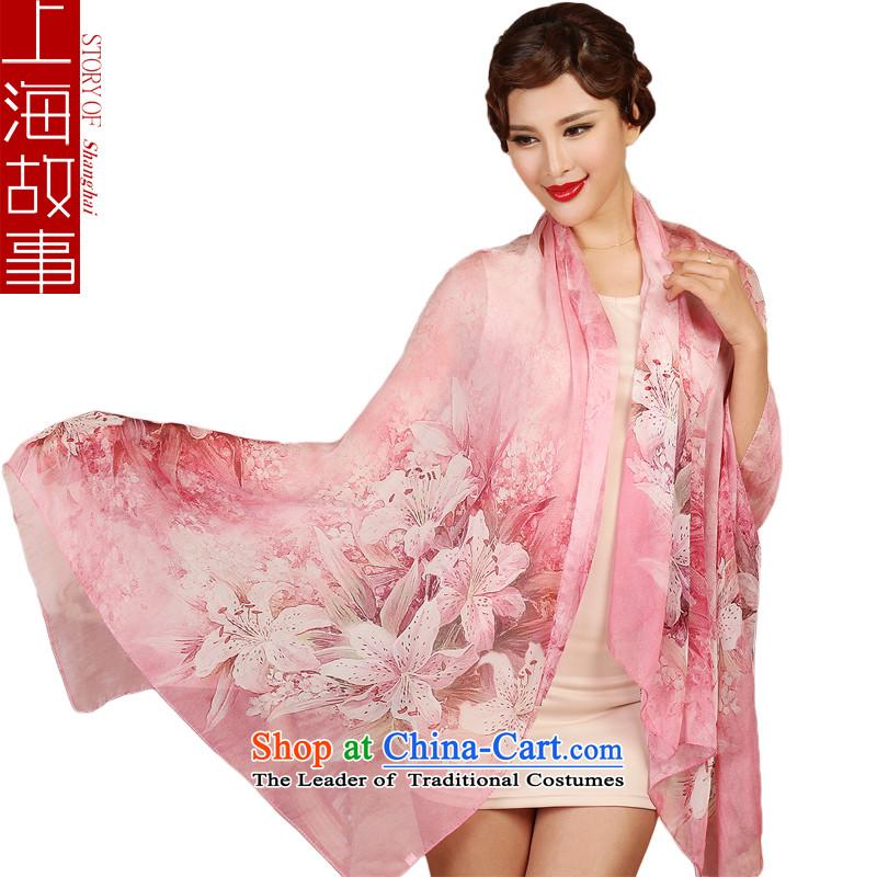 Shanghai Story silk scarves, sauna also silk scarf shawl masks in the Magic Lily Pink