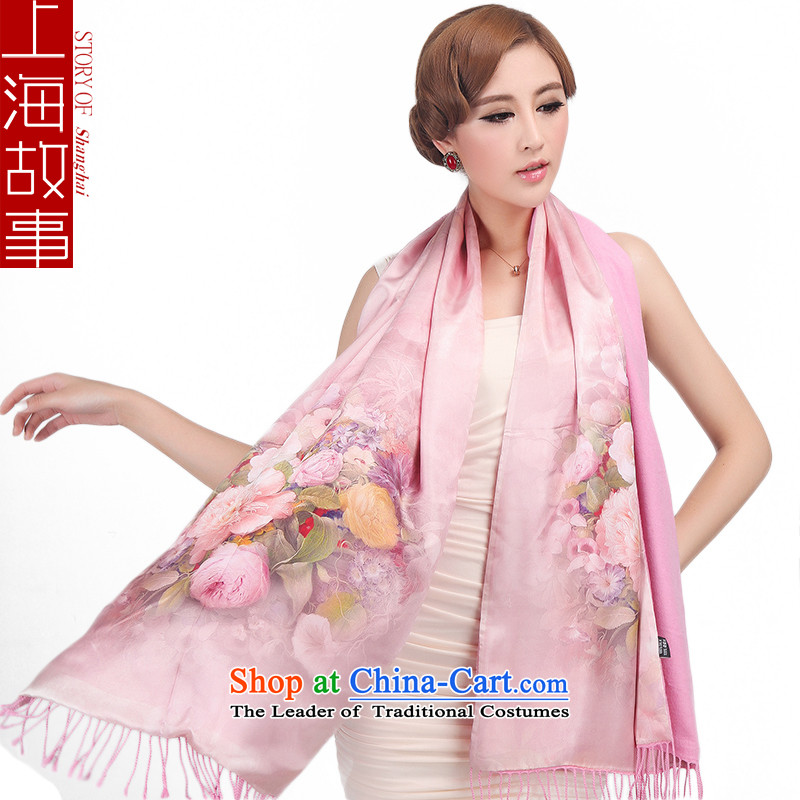 Shanghai Story, scarf Thick Long sauna silk scarves autumn and winter female warm silk brushed, Fanshi Town, Color