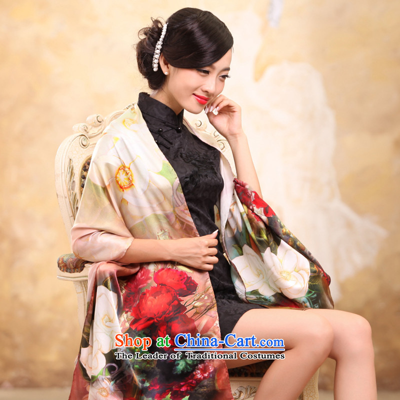 Rglt genuine new spring and summer 100% herbs extract scarf silk scarves digital poster women Fancy Scarf Between Two splined