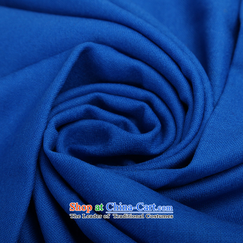 Stylish spring and summer RGLT pure colors to 100% Pure Wool long 2.2 m Ms. soft warm scarves shawl large solid color - Blue