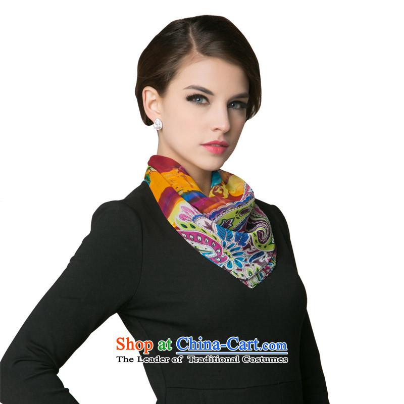 Zasn聽silk herbs extract ethnic small towel silk scarf聽FS011聽Suit