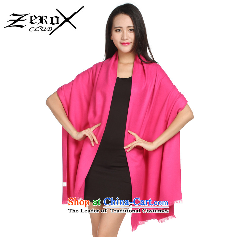 Ms. zeroxclub autumn and winter solid color two-sided brushed warm Fancy Scarf two with 13 colors to the red PJ-801