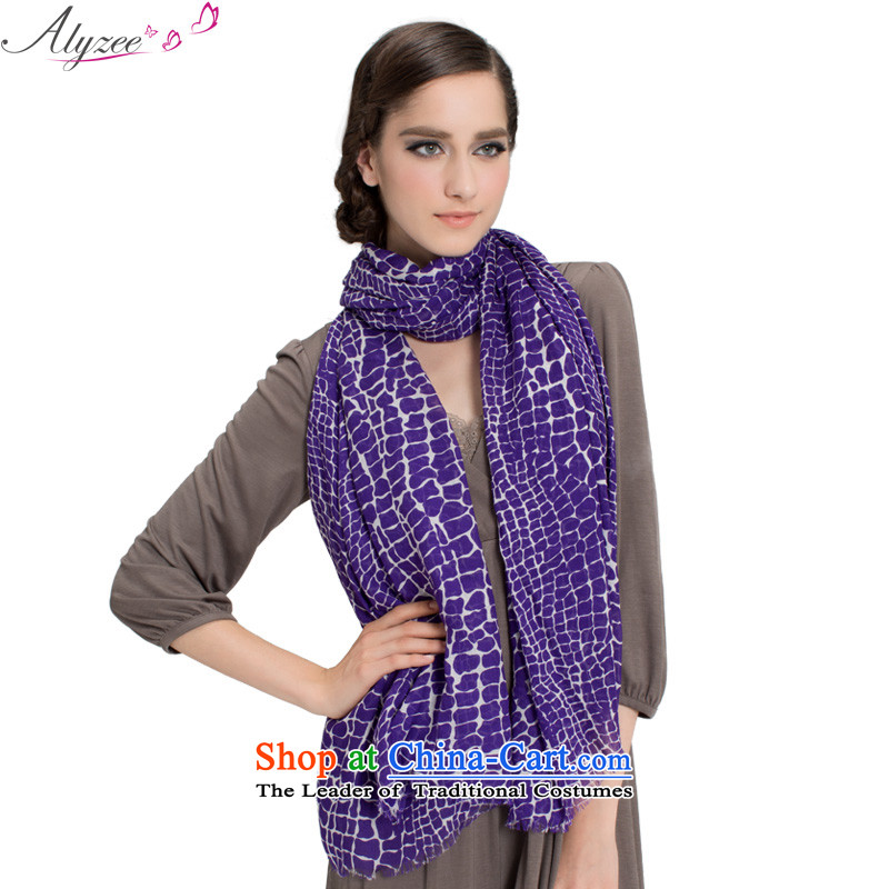 The situation of the champs alyzee spring and summer new president of ethnic cracks and stylish scarves edging scarf pure cotton long scarf Purple