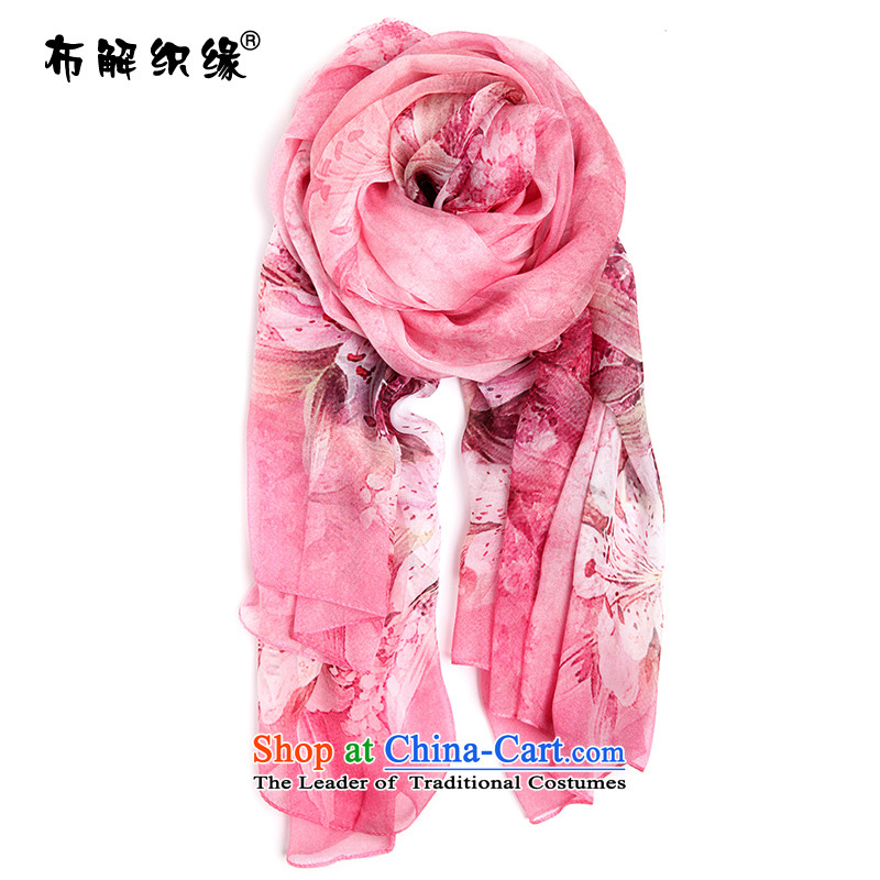 The leading edge of the weaving herbs extract silk scarves female long in the summer and autumn of dual-use masks sunscreen shawl beach towel scarf c315-1 romantic Lily