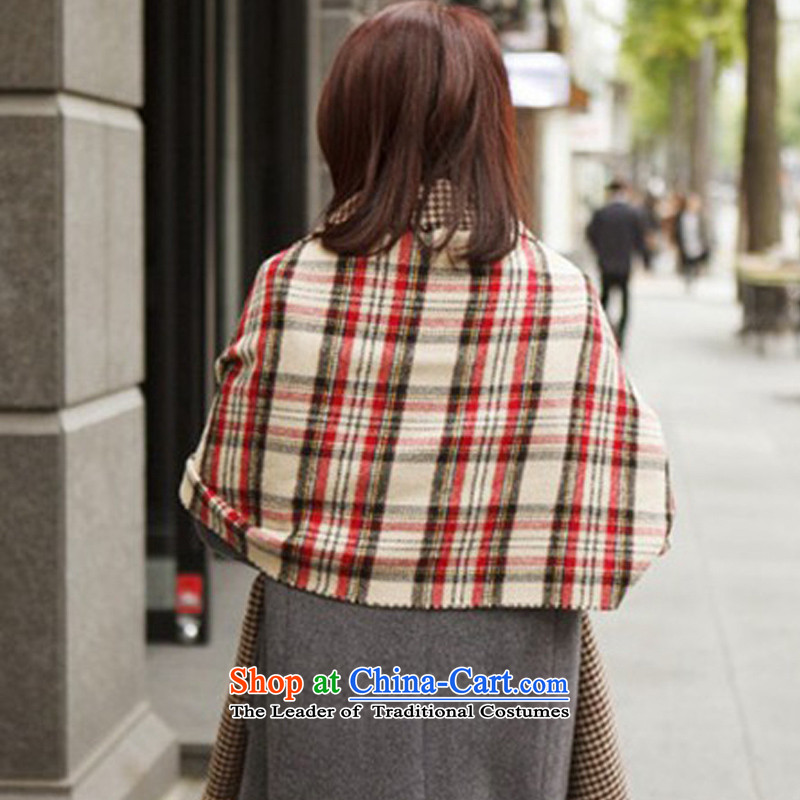 The World Card 2014 HIV new stylish Western big classic English on both sides of the grid cell long scarf summer anti-air-conditioned shawl a red plus m grid