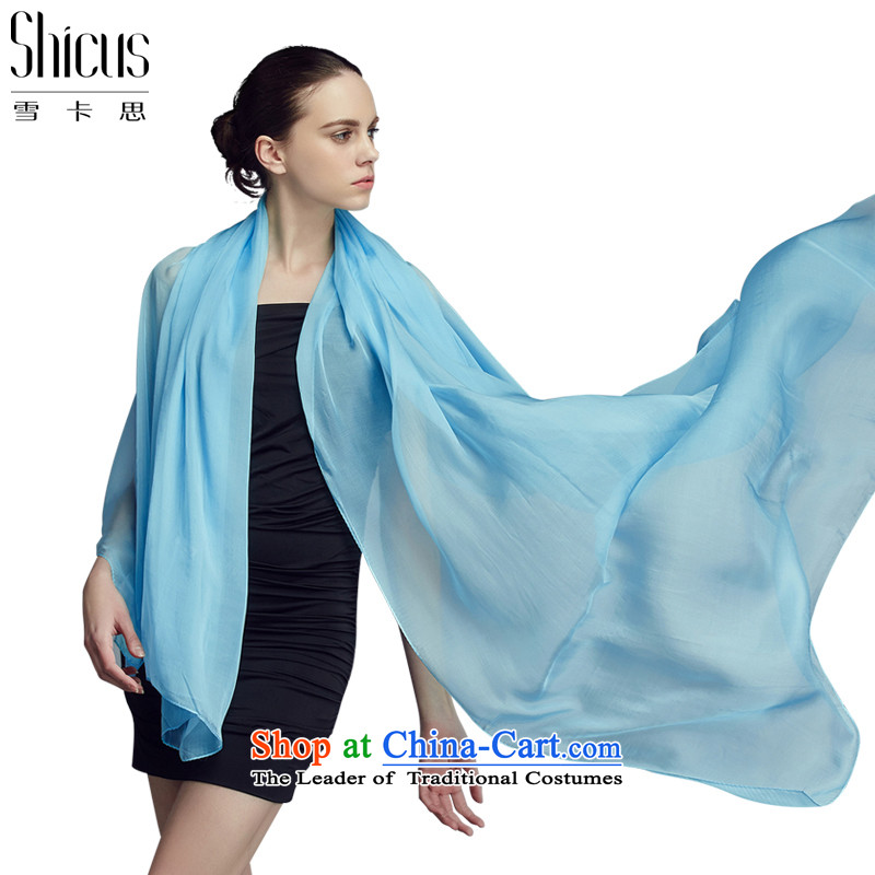 Ms. ciguatoxin pure colors and stylish silk scarf sauna silk scarves silk scarf silk scarf shawl female Fourth Quarter and classy sky blue towel available 135_135