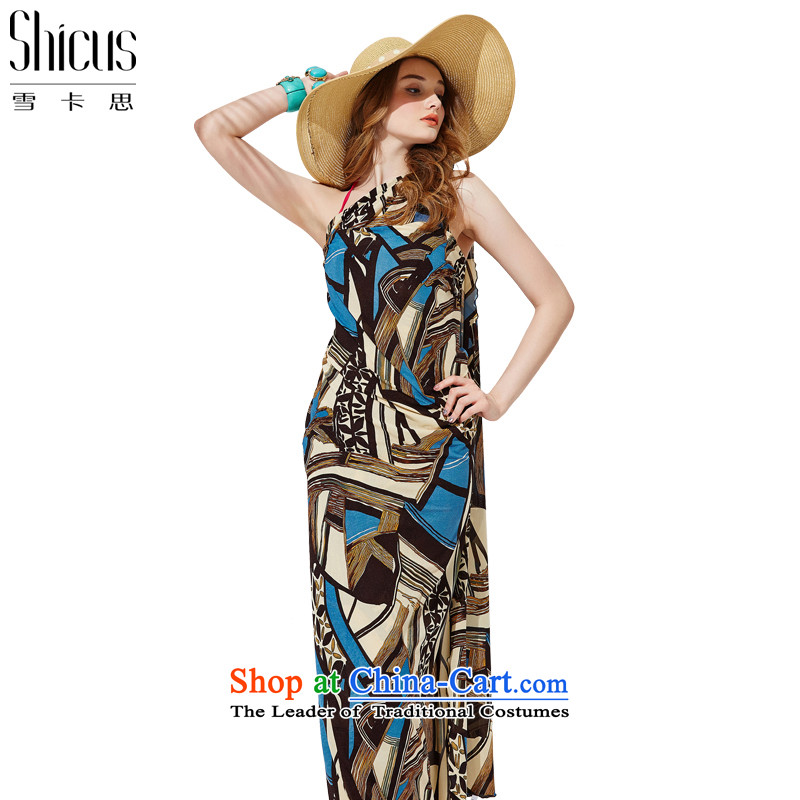 Ms. ciguatoxin summer sun ultra-large silk scarf yarn beach towel bikini wrapped yarn Wai yarn yarn stylish shawl long skirt wrapped smock masks in the scarf style - blue - 3