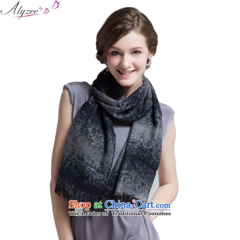 The situation of the champs alyzee autumn and winter and stylish look cute Korean girl scarf woolen scarves warm black
