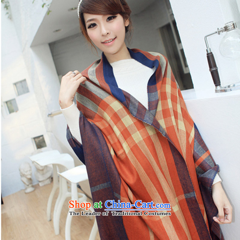 Rglt genuine spring and summer long new Korean Dyed Wool Ms. Pamela thermal plain thick Fancy Scarf聽wy241- warm orange