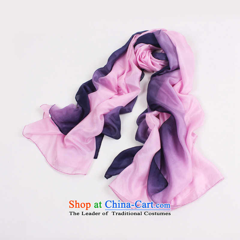 Shanghai Story 2014 autumn and winter Ms. new gradient 100% silk scarves sauna silk scarf toner in the ocean woven black gradient