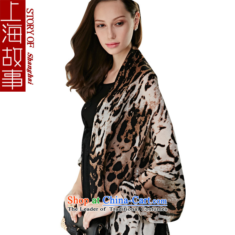 Shanghai Story聽2015 new wooler scarf Korean autumn and winter female leopard shawl long Leopard Lady Black leopard stew