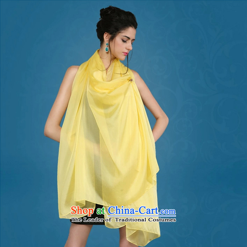 Shanghai Story 2014 Ms. New Solid Color silk scarves sauna silk scarf turmeric yellow