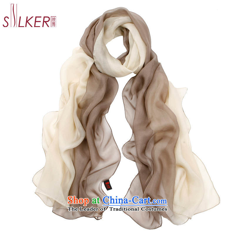 The population sector SIGI spring and fall new herbs extract gradient silk  scarf silk scarfs late ... 2b0dae6de7d71