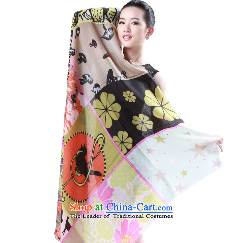Shanghai Story autumn and winter female fleece stamp color and classy towel knocked warm Fancy Scarf reviving everything lady green