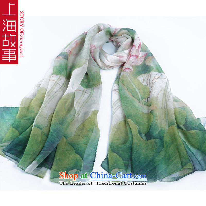 Shanghai Story silk scarves silk scarves Jamsil dos Santos, air conditioning shawl sunscreen masks in fresh water lily
