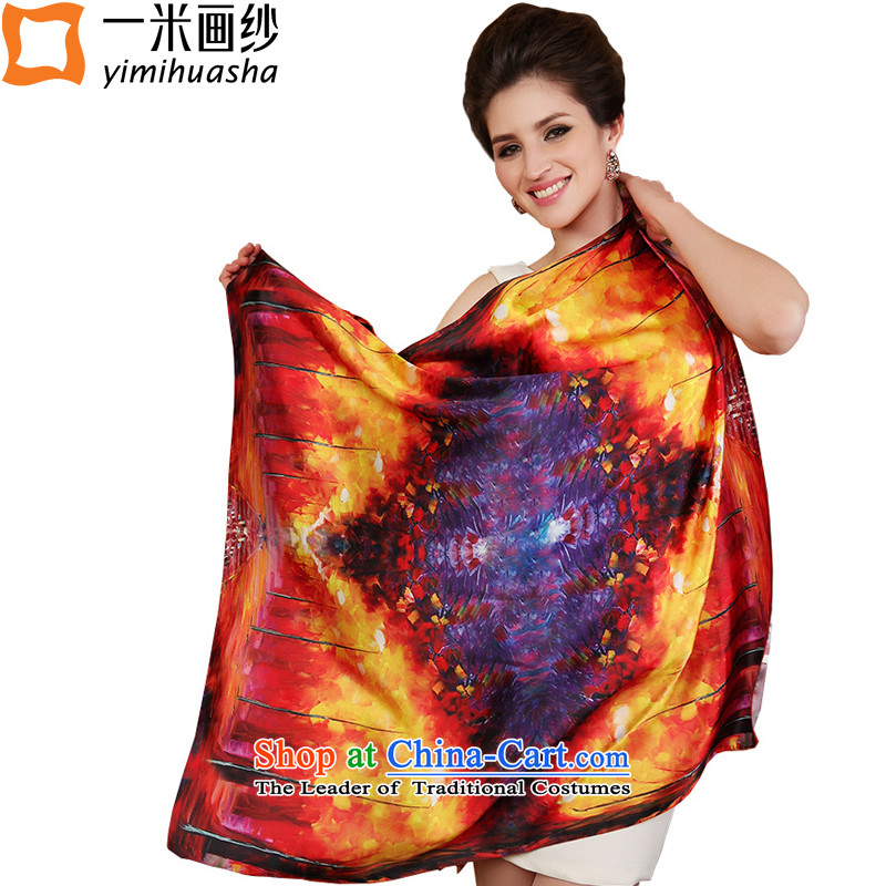 One meter animation yarn silk scarf of the Jurchen people silk scarves herbs extract spring and autumn and the new towels1# color