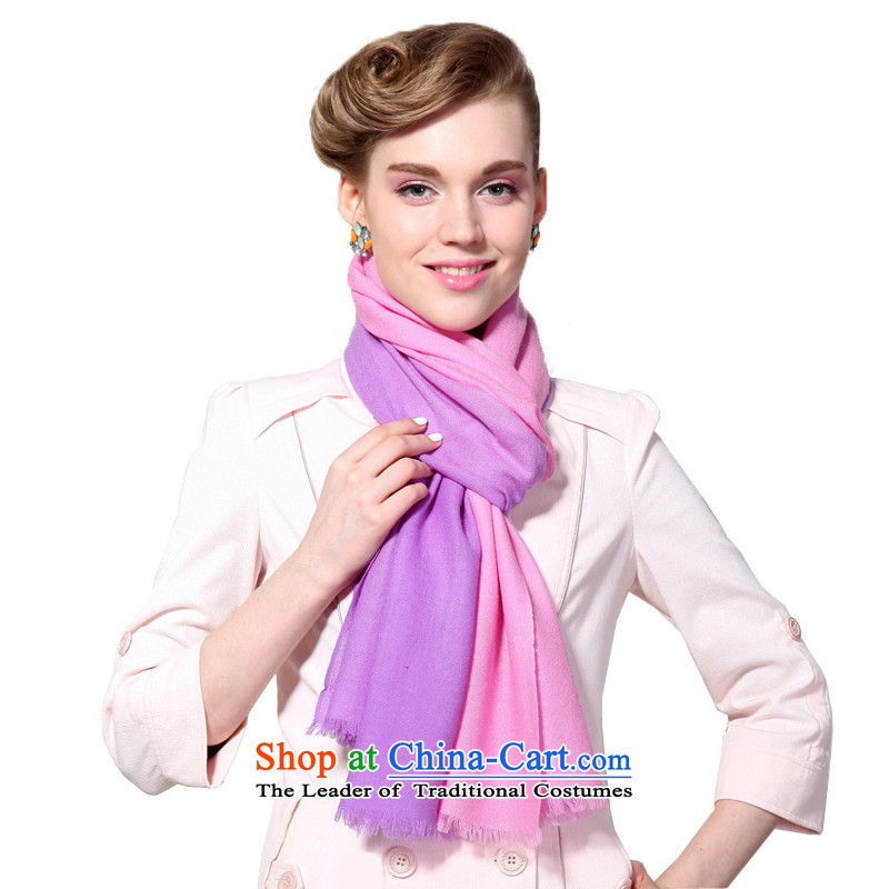 Hengyuan Cheung 2015 autumn and winter Ms. new wool long scarf loose ears gradient shawl gift boxed loose toner Sui Purple
