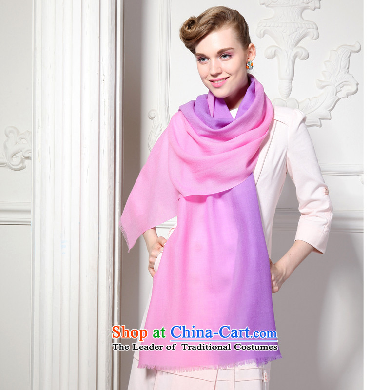 Hengyuan Cheung 2015 autumn and winter Ms. new wool long scarf loose ears gradient shawl gift boxed loose toner purple, hang sui source-cheung shopping on the Internet has been pressed.