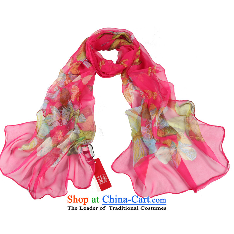 Shanghai Story Zephyr dancing herbs extract silk scarves Fancy Scarf gittoes yarn masks in the Butterfly Dance Red