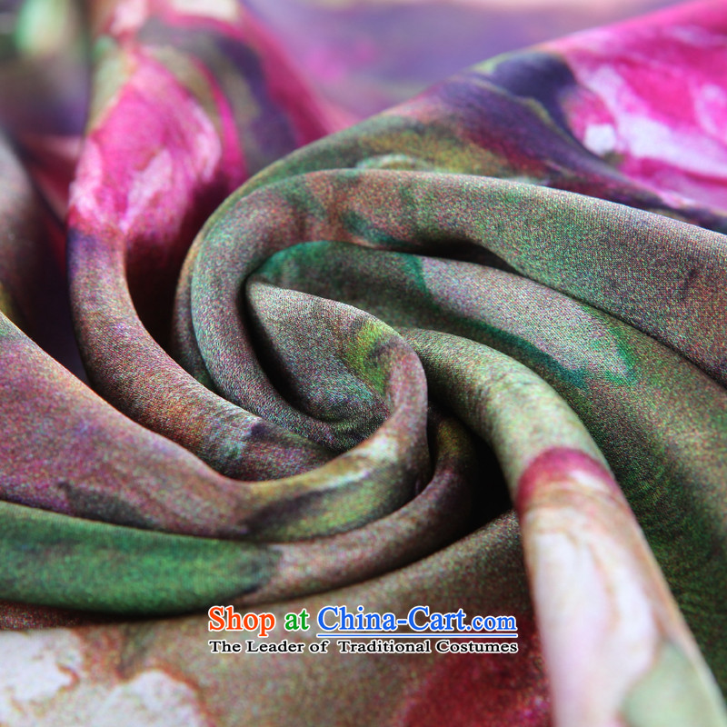 Shanghai Story counters silk brushed double picturesque herbs extract silk scarves women Fancy Scarf wool Scarf 7#