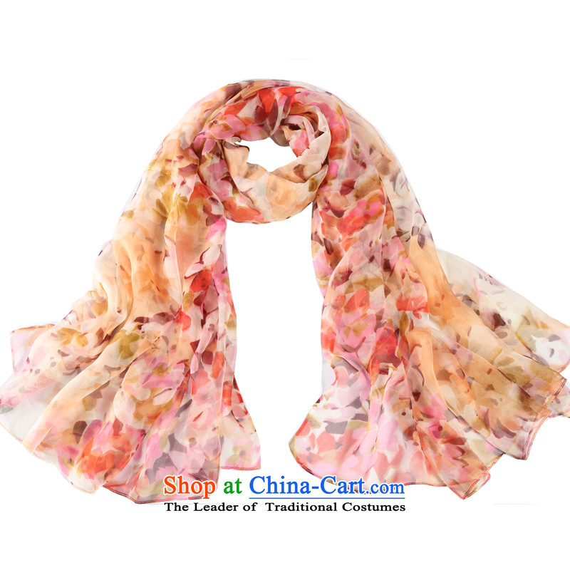 Shanghai Story flowers in a mirror on water silk scarves with Fancy Scarf autumn and winter new ultra long large beach towel toner yellow flower petals