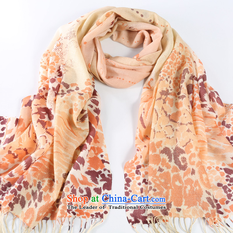 Shanghai Story of gold and Pure Wool warm Ms. scarf wooler scarf autumn and winter, scarf of gold and leopard beige
